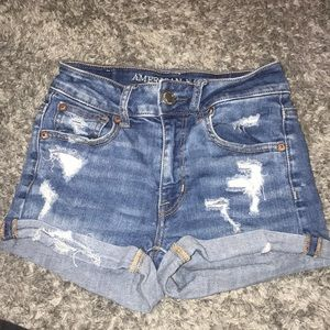american eagle  high waisted jean shorts size 00